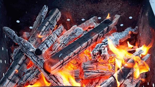 Жидкость для розжига, уголь