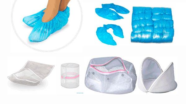 Мешки для стирки, бахилы